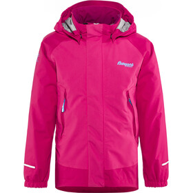 Bergans Knatten Giacca Bambino, hot pink/cerise/light winter sky